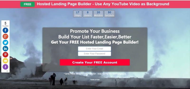 http://getfree.li/Free-Hosted-Landing-Page-Creator-with-Any-YouTube-Video-as-Full-Screen-Background/